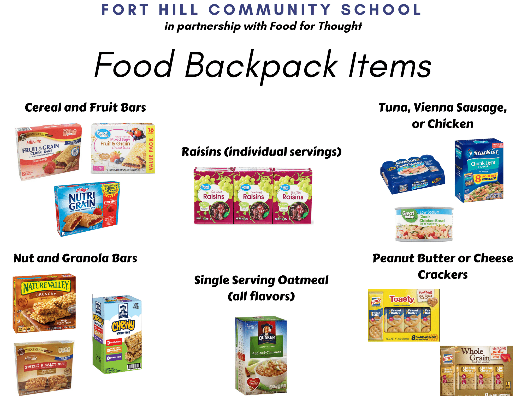 Fort Hill Community School Backpack Items 1